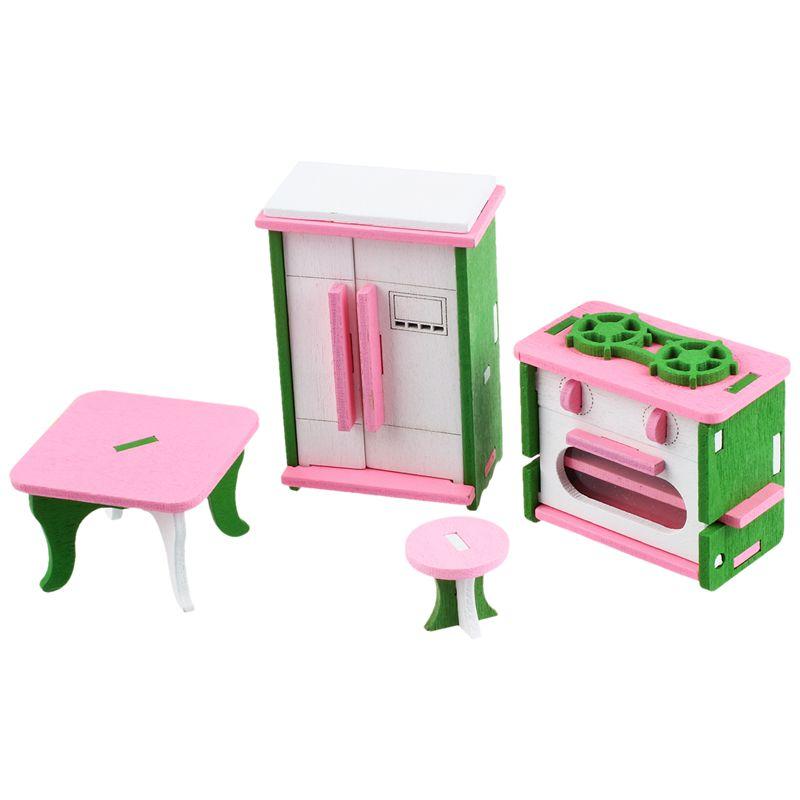 Muebles casa munecas madera para los Bebes Juguetes en miniatura ...