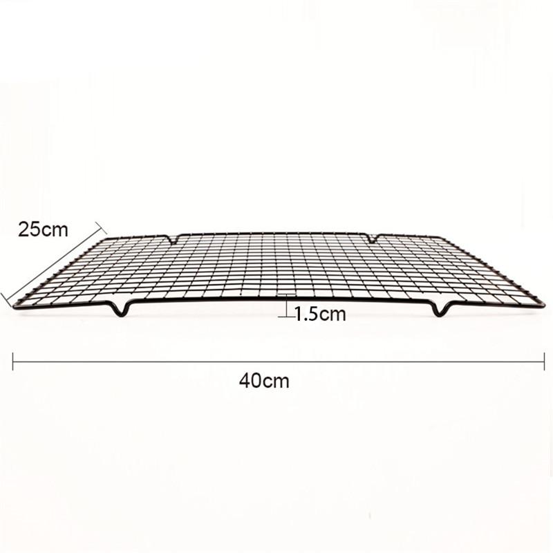 1 stueck Kohlenstoffstahl Nicht-stick Kuehl Rack Kuehlung Gitter Backblech  N8Y7