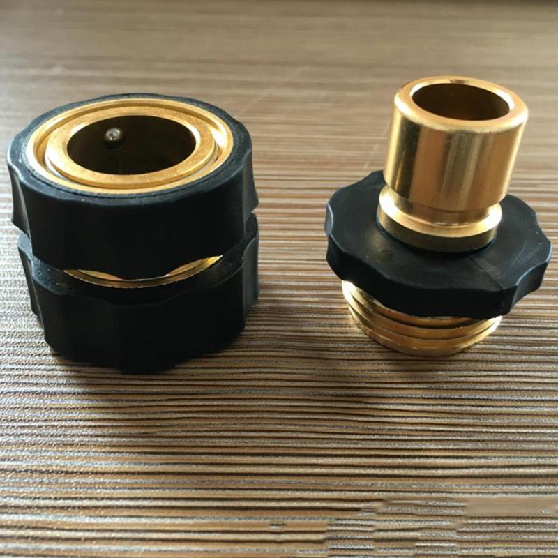 1 pair x garden hose connector connect fitting pipe 3 4. Black Bedroom Furniture Sets. Home Design Ideas