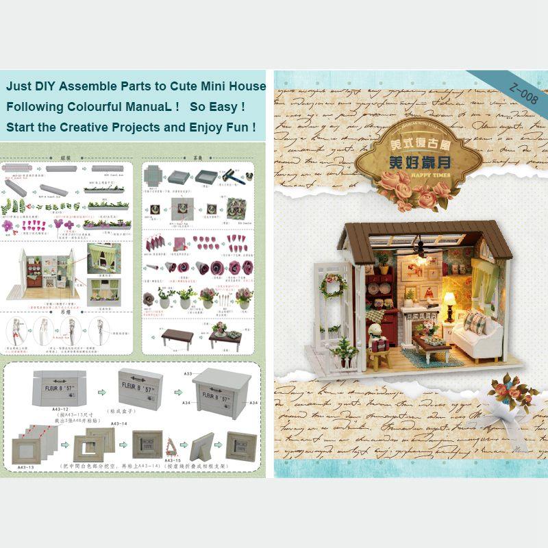 Dollhouse-Miniature-DIY-House-Model-Building-Kit-Wooden-Creative-Room-With-U4I1 thumbnail 6