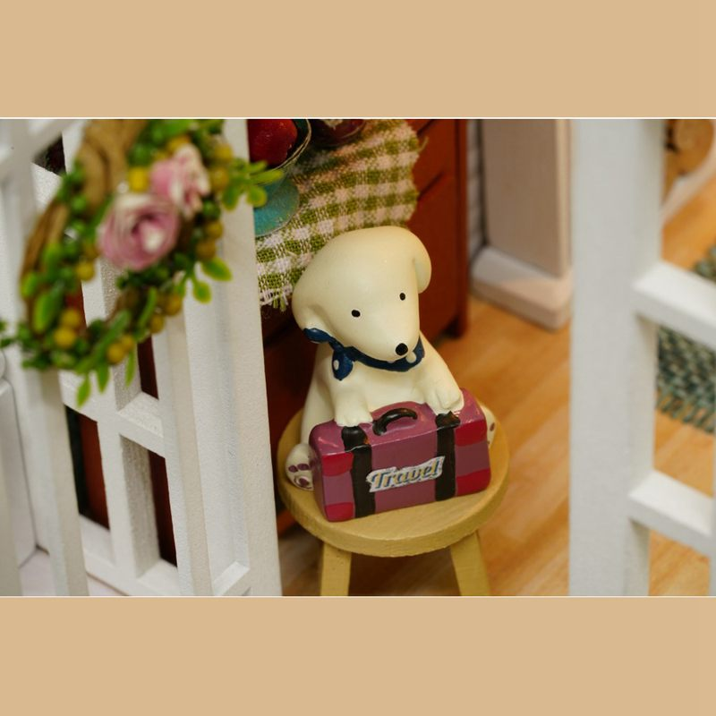 Dollhouse-Miniature-DIY-House-Model-Building-Kit-Wooden-Creative-Room-With-U4I1 thumbnail 8
