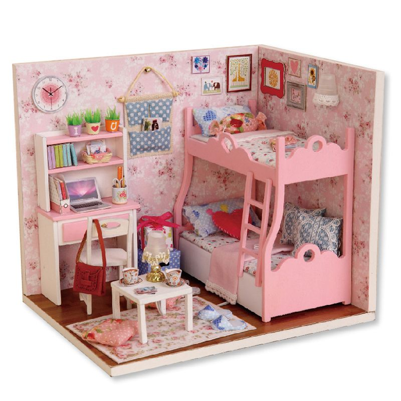 1:24 Handmade Doll House Furniture Diy Miniature Dust Cover Wooden Toys For G5J2 192701794200