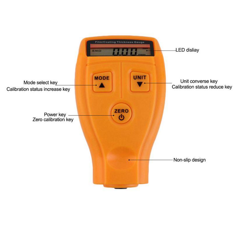 GM200 LCD Digital Autolack Schichtdicke Sonde Tester Messgeraet Meter Messw Y1O7