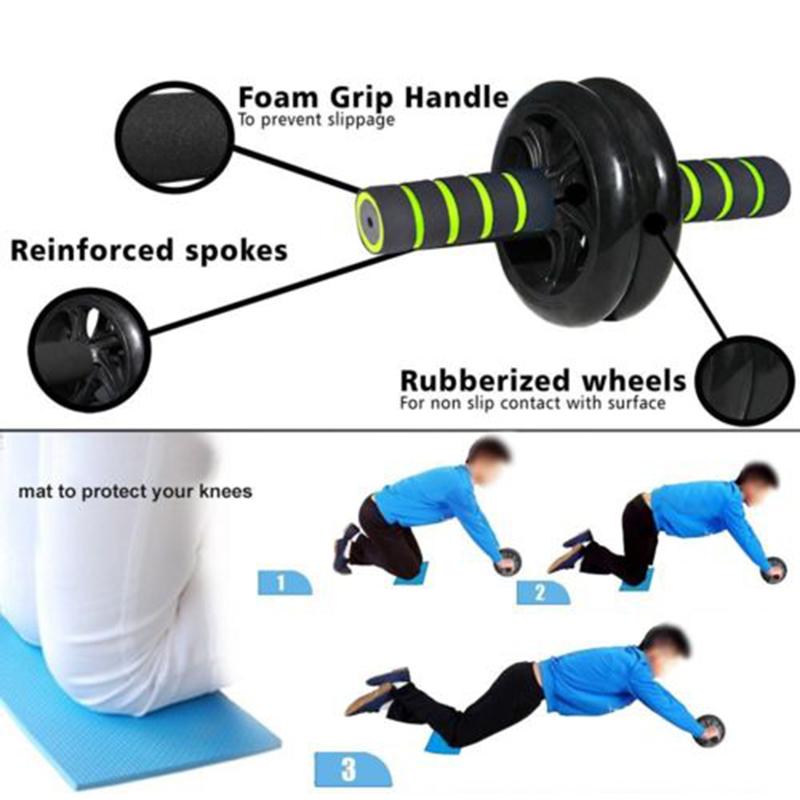 Rueda-Abdominal-Abs-Dual-Ejercicio-Ab-Roller-equipo-de-Fitness-Entrenamiento-Gimnasio-I9S3