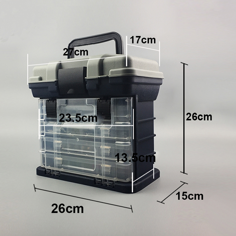 Fishing Tackle Box Portable 4 Layers Fishing Box Sea Boat Fishing Accessory F4G9