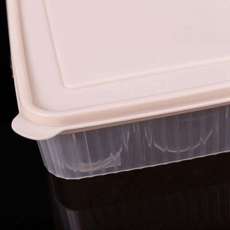 Kunststoff Ei Box Kueche Ei Aufbewahrungsbox 24 Gitter Eier Halter stapelba Y0J2