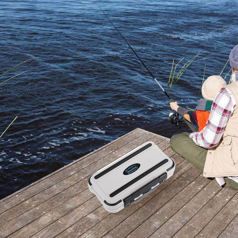 Lure Fishing Box 24 Faecher Doppelschicht Angeln Box Kunststoff Angelger N9H5 2X