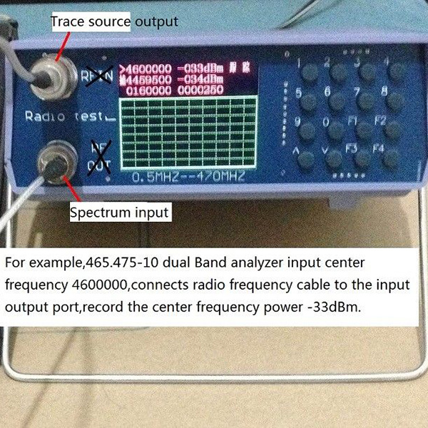 U/V UHF VHF dual band spectrum analyzer with tracking ...