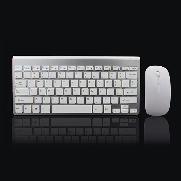2.4Ghz Ultra-Thin Wireless Keyboard And Mouse Combo With USB Receiver Mouse F5X6