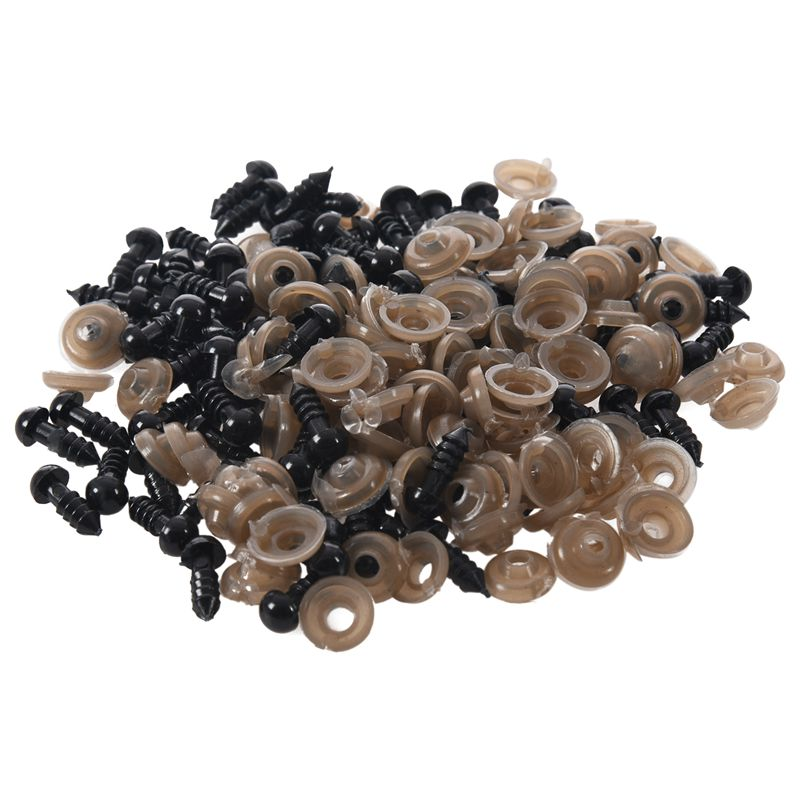 100Pcs 6mm Black Plastic Safety Eye Washers For Teddy Toy Eyes Puppet Doll P9S5 191466689400