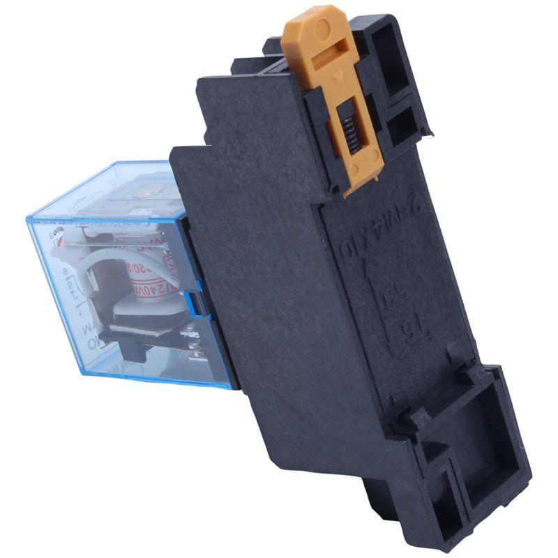220//240V AC Coil DPDT Power Relay MY2NJ 8 Pin w Socket Base Y9X2 1X