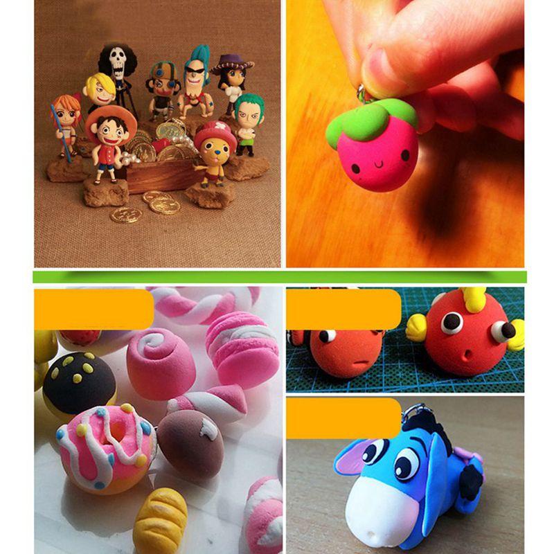 Pack von 24 bunter weicher Ton Plastilin Handwerk DIY Modellierung Kinder S F5X3