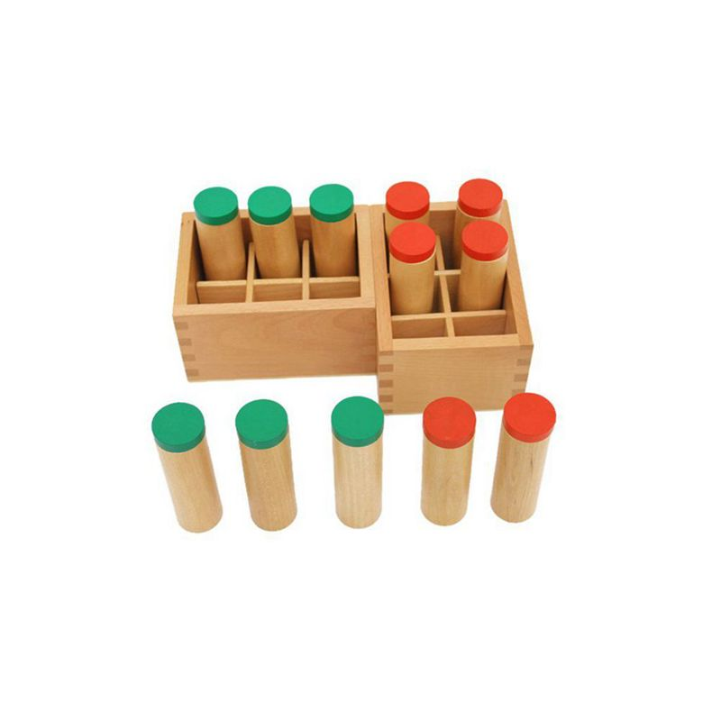 8X(Wooden Montessori Sensorial Auditory Material Container Holder Sound Cy W6E4)