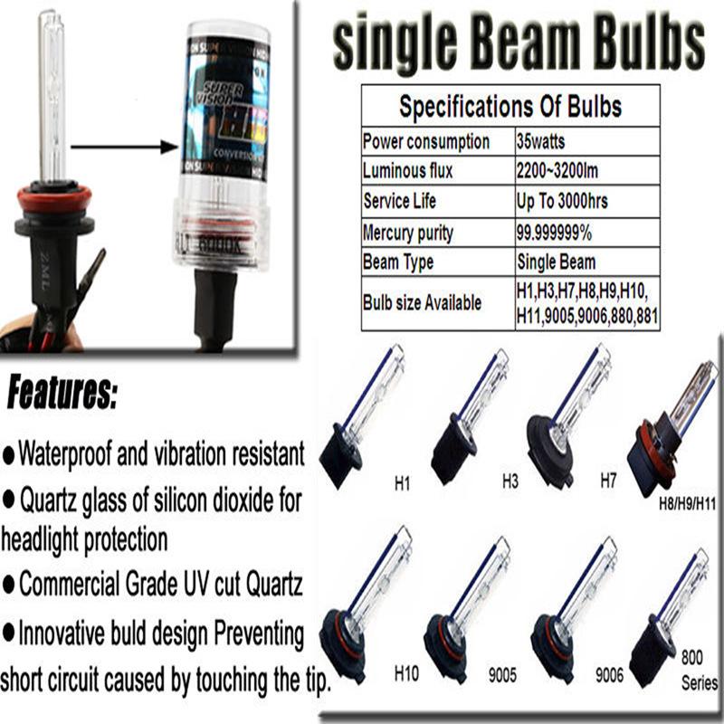 2 pieces H3 HID Xenon Replacement Bulb 2 Bulbs Headlight 35W Lamp Light N7C4