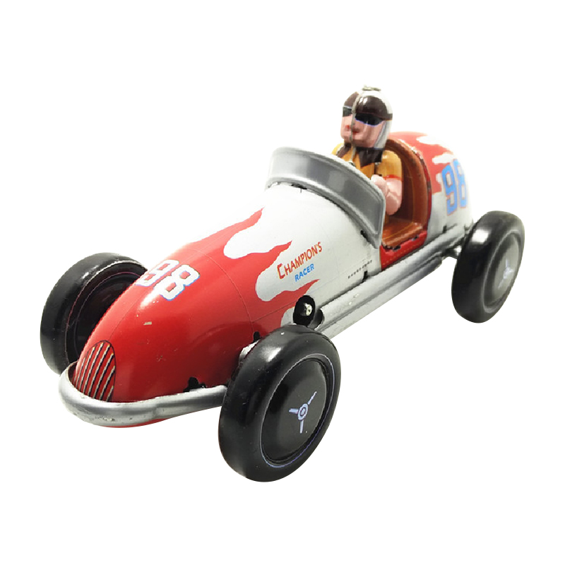 20X(Wind-Up Retro Racing Car Model Toy Collectible Gift Q1R6)