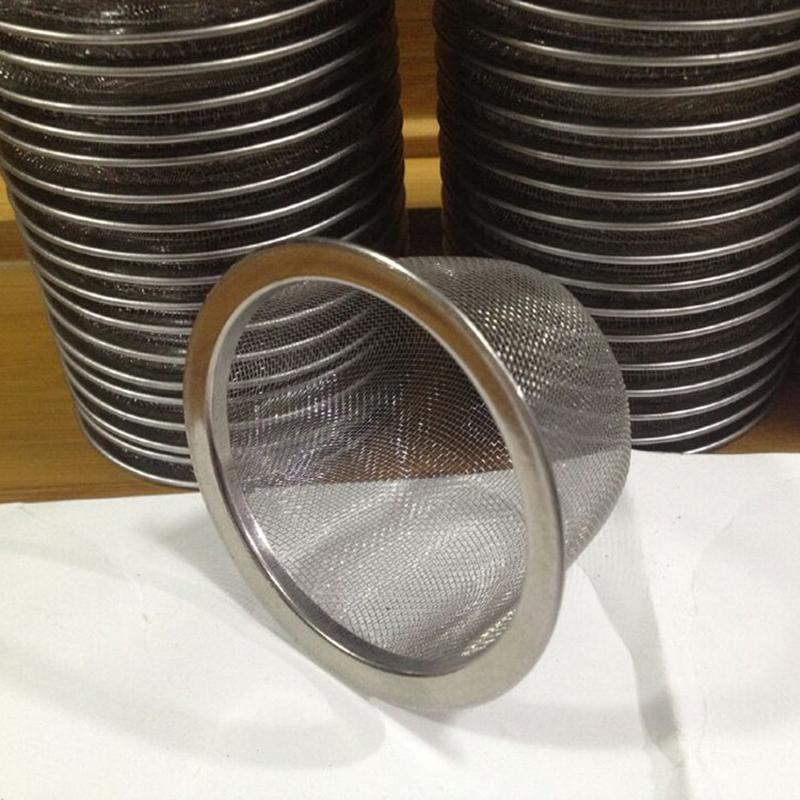Stainless Steel Home Mesh Tea Infuser Strainer Basket 62mm Dia 5 Pcs K7W7