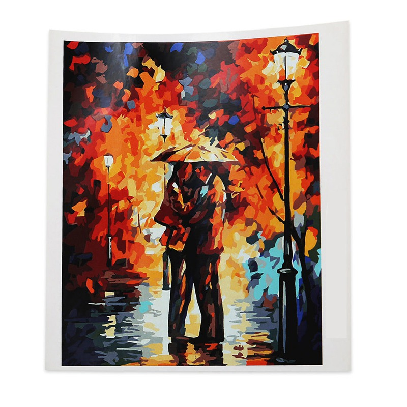 L S1K7 DIY Digital Oil Painting By Number Kit Canvas Paint Home Wall Decoration