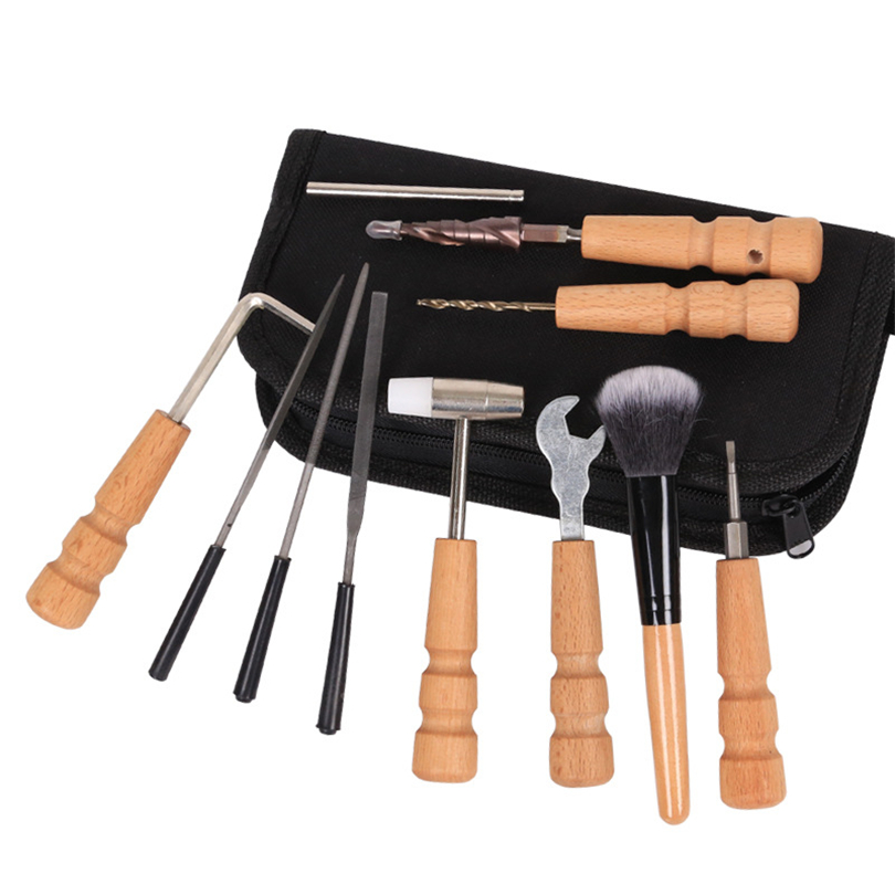 guitar tools bag set guitar repair file kit nut files ruler turner gauge me s6s3 192701943172 ebay. Black Bedroom Furniture Sets. Home Design Ideas
