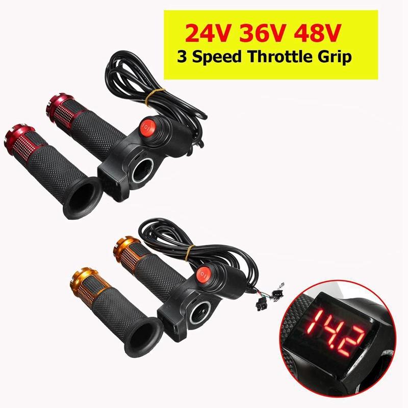 1X 24V 36V 48V 3 Geschwindigkeit Elektroroller Gasgriff Lenker LED Digital L4V2