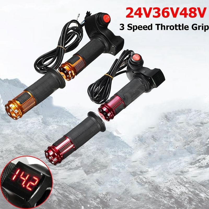 24V 36V 48V 3 Geschwindigkeit Elektroroller Gasgriff Lenker LED Digital Met G0O2