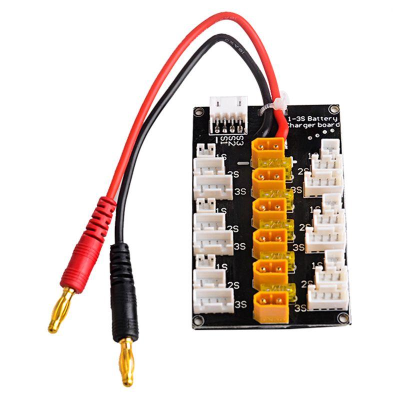 20X(XT30 Plug Parallel Lipo Charging Adaptor Board for 1S 2S 3S LiPo Batte A6X9)