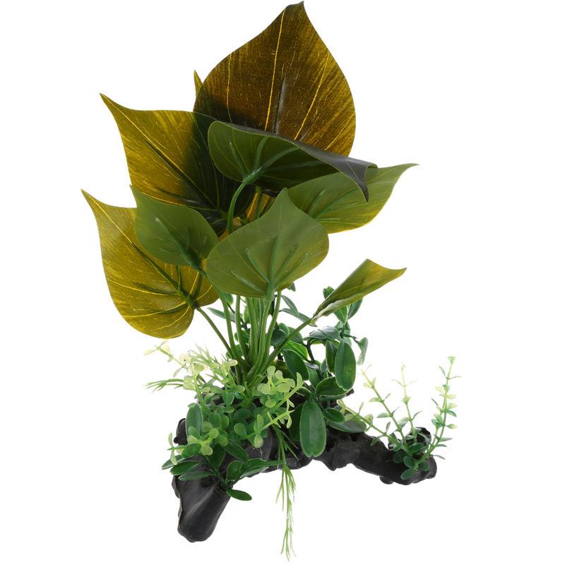 Plastic Aquarium Terrarium Plants Landscacpe Decorative Ornament For