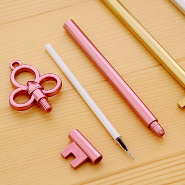 4 Stueck schwarz Gel Stift einstellen Schluessel Kawaii Schulbedarf Buero Sta OE