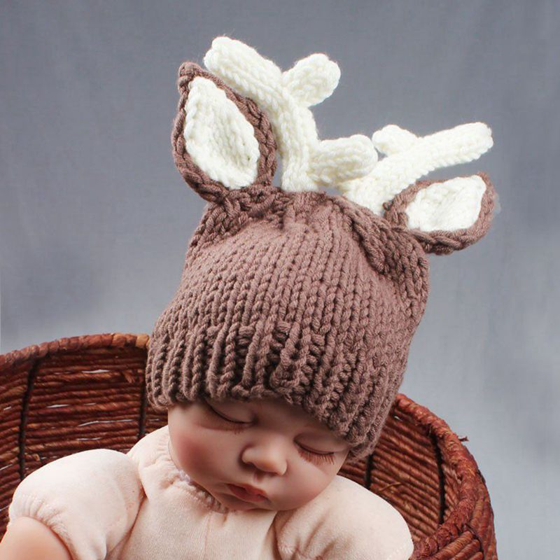 Baby Photo Props Baby Girls Boys Knit Baby Outfits Costume Hat and Pants D F6B9