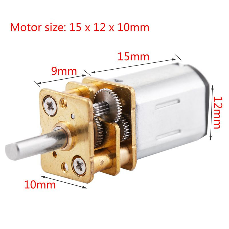 Micro-Speed Reduction Motor Mini Gear Box Motor with 2 Terminals for RC Car Q6Q2