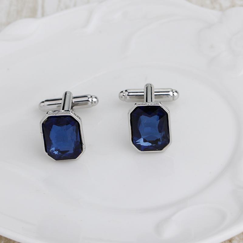 1-Pair-Diamond-Colorful-Glass-Cufflinks-Cuff-Links-Womens-Mens-Dress-Busin-T8R9 thumbnail 2