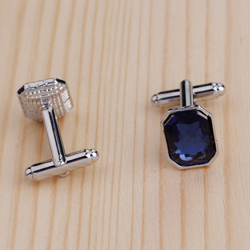 1-Pair-Diamond-Colorful-Glass-Cufflinks-Cuff-Links-Womens-Mens-Dress-Busin-T8R9 thumbnail 3