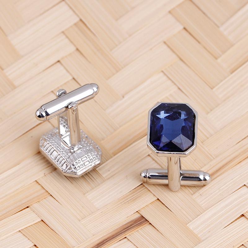 1-Pair-Diamond-Colorful-Glass-Cufflinks-Cuff-Links-Womens-Mens-Dress-Busin-T8R9 thumbnail 5
