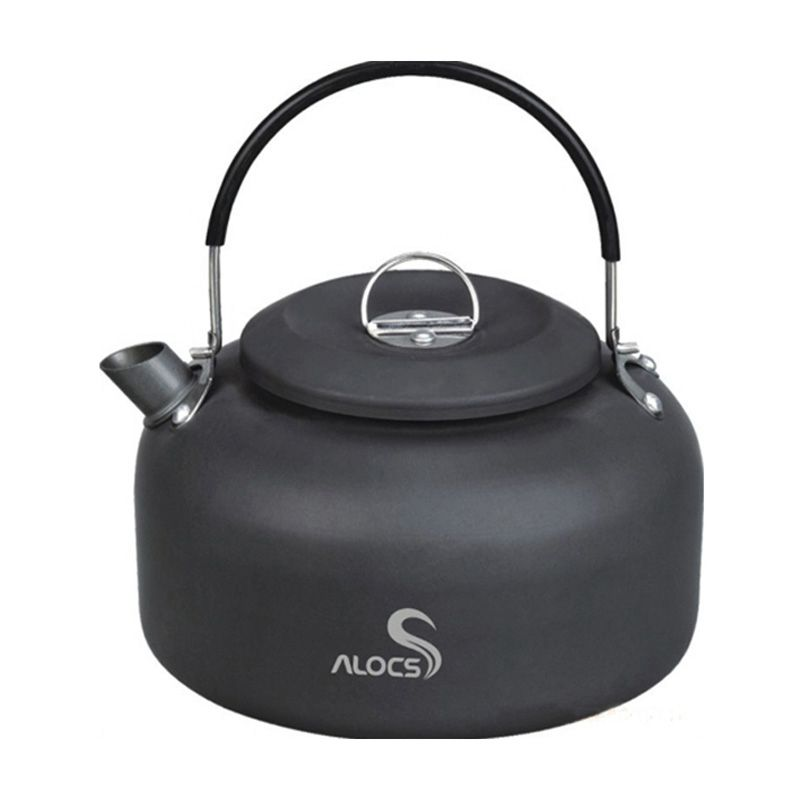8X(Alocs CW-K03 Kettle Camping Picnic Water Teapot Cooking Pot 1.4L Hard a P9I5)
