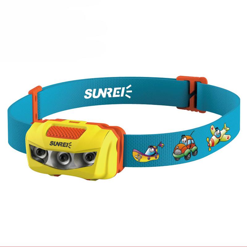 10X (Sunree Bebe Niños Niños IPX6 cabeza luz Lámpara E9M5)