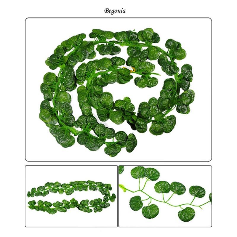 2M lange kuenstliche Pflanzen gruenen Efeu verlaesst kuenstlich Weinrebe B3K4 1X