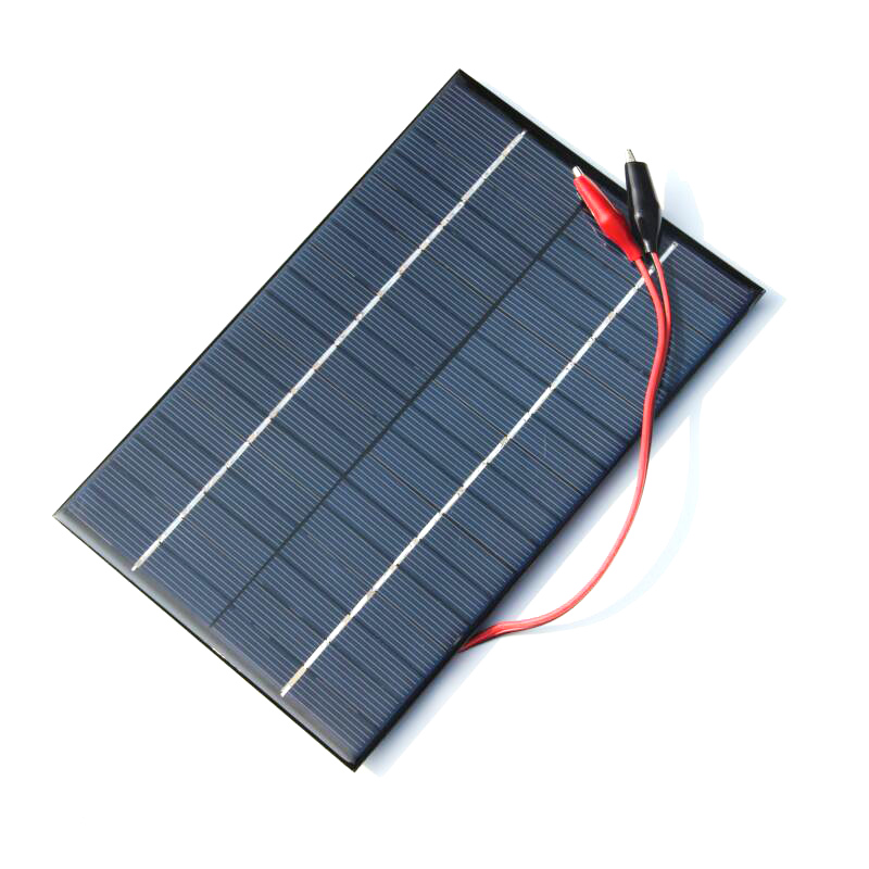 8X(4.2W 18V Solar Cell Polycrystalline Solar Panel+Crocodile Clip For Char P4F4)