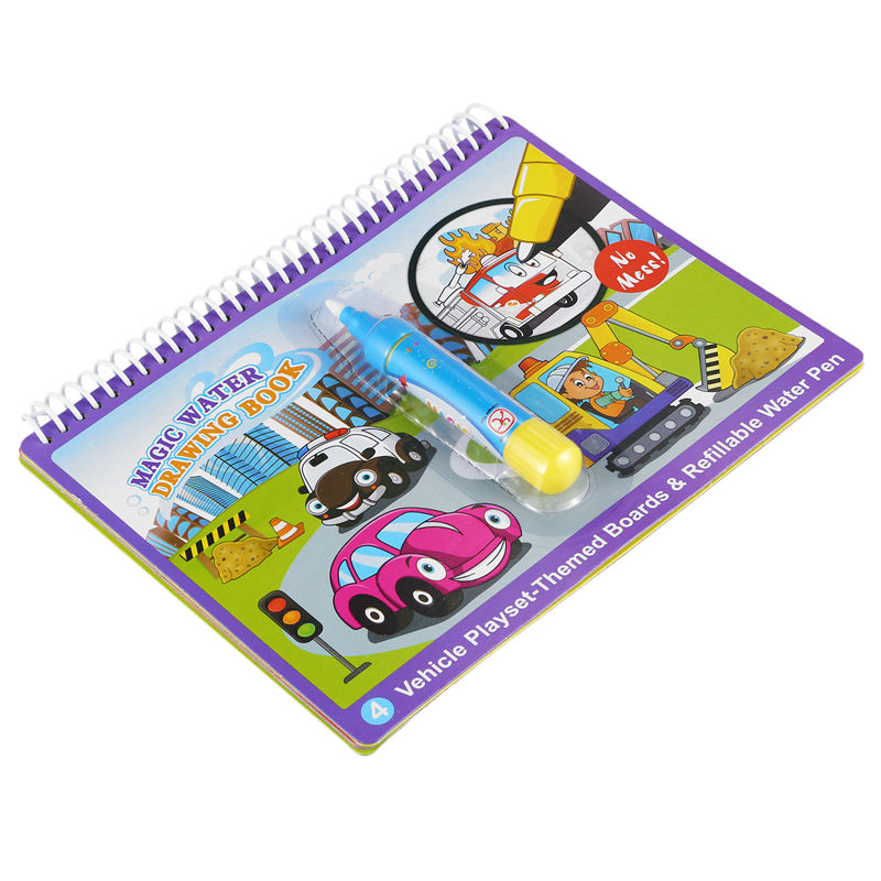 20X(COOLPLAY Magic Water Drawing Book coloring Book Doodle with Magic Pen I2B7)