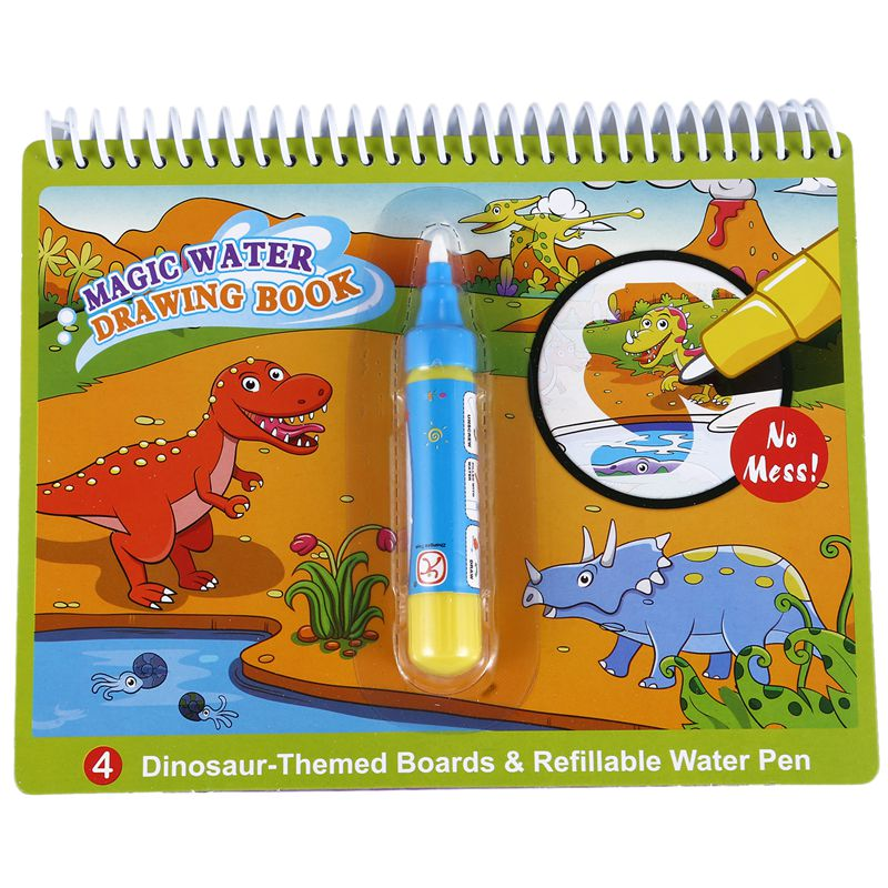 20X(COOLPLAY Magic Water Drawing Book coloring Book Doodle with Magic Pen Q4Q3)