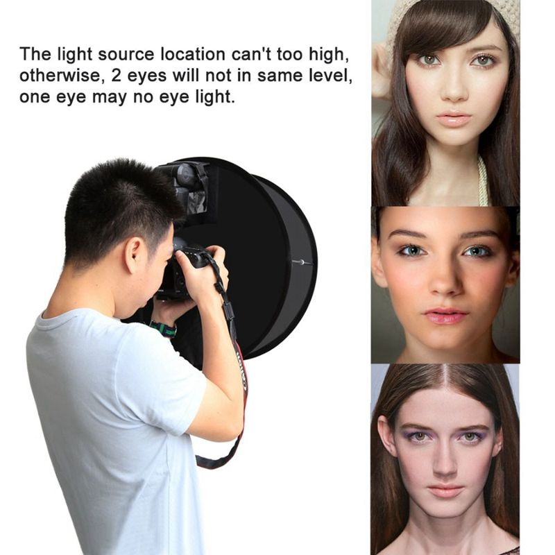 8X(PULUZ 45cm Ring Softbox Speedlight Round Style Flash Light Shoot Soft b W5P1)