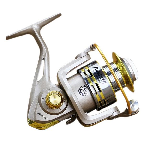 2X YUMOSHI 8 BB Fisch verhaeltnis 5,1: 1 Spinning Angelrolle Kurbelgriff KaV5T8
