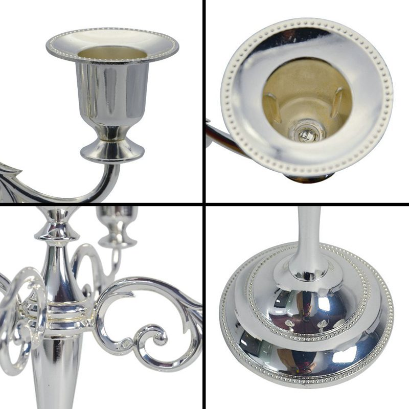 5-Candle Metal Candelabra Tall Candle Holder Wedding Event Candelabra CaP8C1 1X