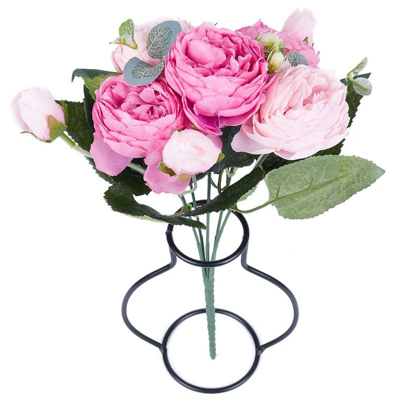 Kuenstliche Seide Pfingstrose Blumen Blumenstrauss Gefaelschte Blatt Hochze T8H2