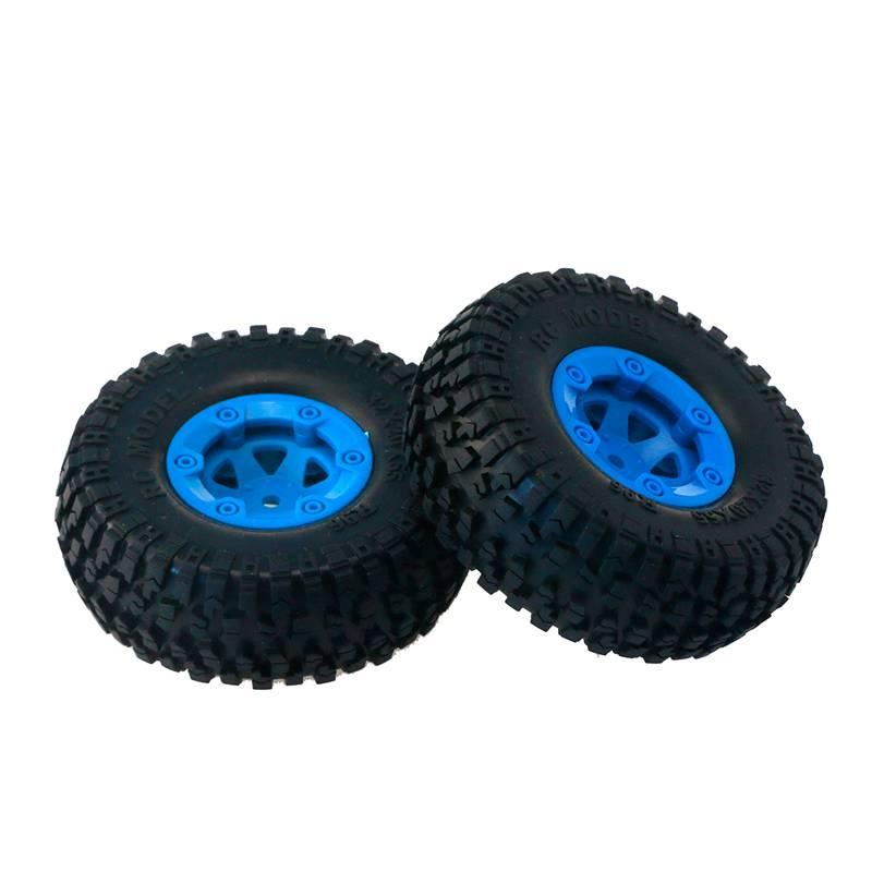 8X(JJRC 2Pcs FY-CL01 Tires and Wheels for FEIYUE 1 12 FY-01 FY-02 FY-03 RC V8U3)