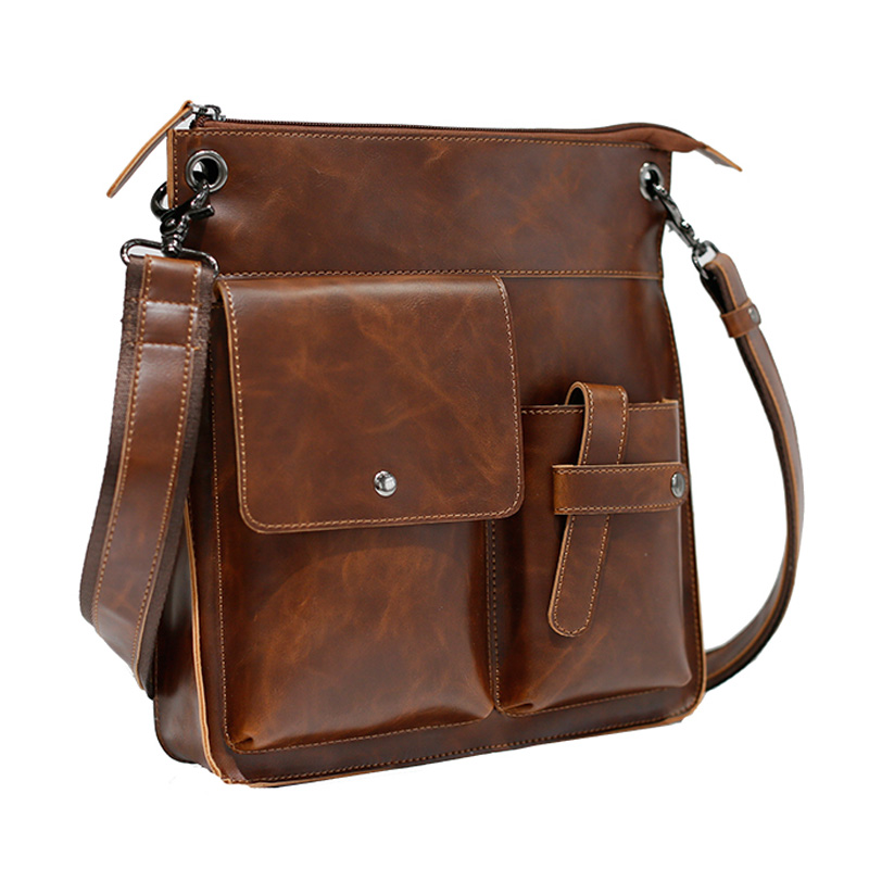7934cdcf5c95 8X(Vintage PU Leather Men Bags Hot Sale Male Messenger Bag Man ...