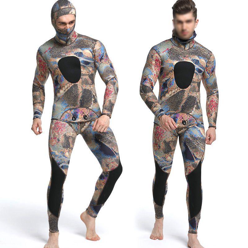 Diving suit neoprene 3mm men pesca diving spearfishing wetsuit surf snorkel A1K2