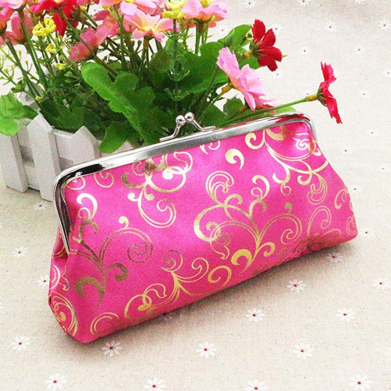 Women/'s Flower Floral Coin Purse Wallet Money Bag Mini Clutch Bag G9W9 G9W9