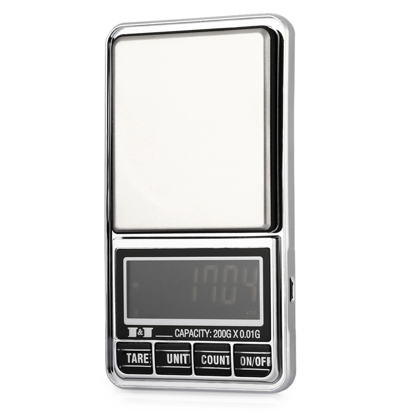 200g 0.01 DIGITAL ELECTRONIC POCKET JEWELLERY SCALES 10 milligram Micro-gm T9N1 192948189531