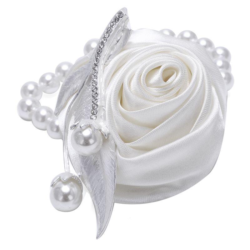 Beautiful Wrist Corsage Bracelet Bridesmaid Sisters Hand Flowers Wedding Party P