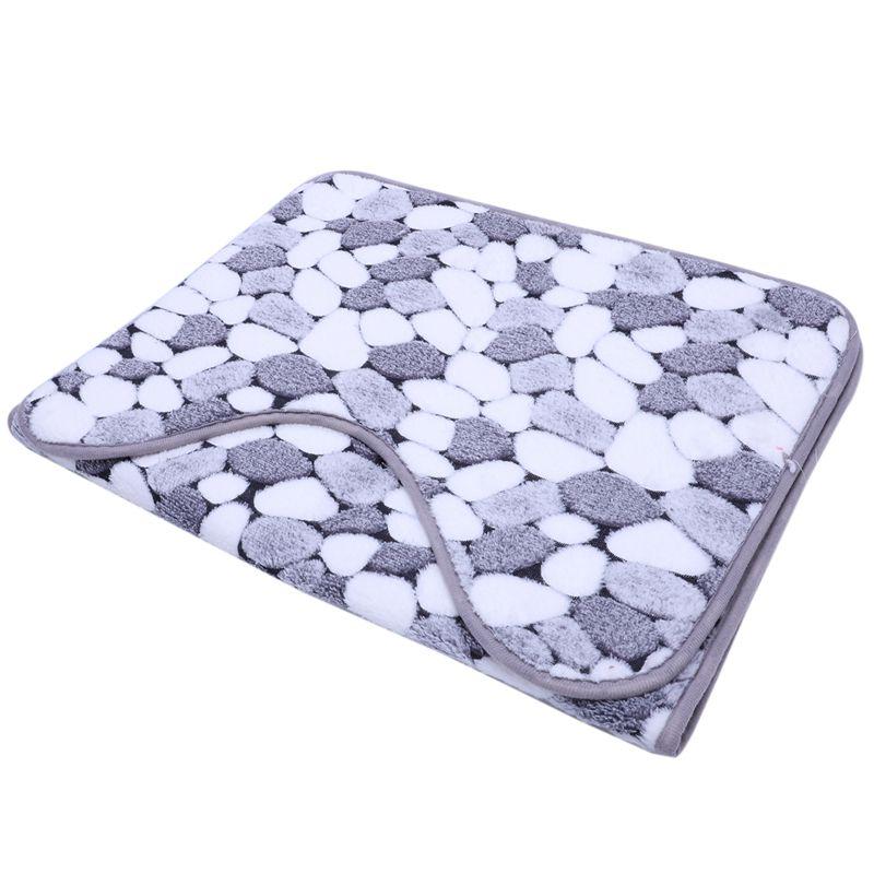 8X (Tappetino da bagno CORALLO IN VELLUTO ANTISCIVOLO Pavimento Tappeti da due pezzi 45x50CM+ X3R3)