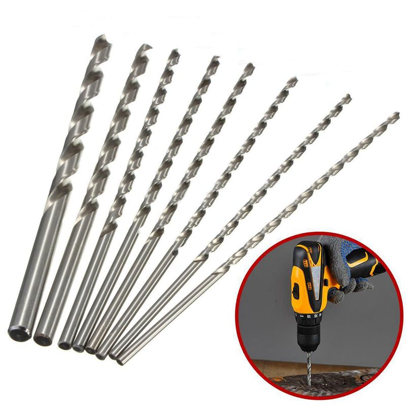 4-10mm Extra Long 200mm HSS Twist Drill Straigth Shank Auger Drilling Bit T C6X4